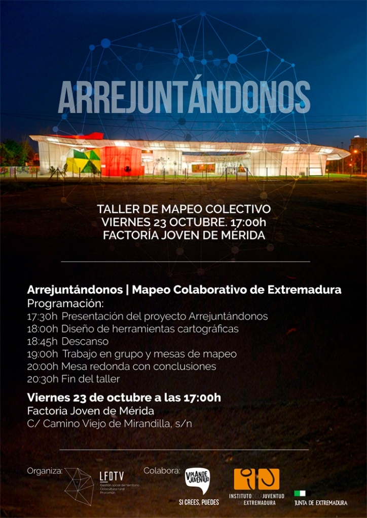 Arrejuntándonos. Cartel del Taller de Mapeo Colectivo Mérida.